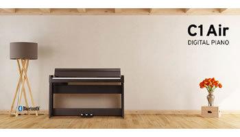 コルグの電子ピアノ、モダンデザインでBluetoothオーディオにも対応