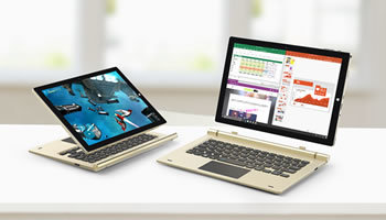Dual OS搭載の10.1インチ2in1タブレット「Tbook 10 S」