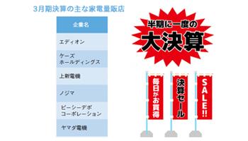 3月期決算の家電量販店、大幅値引きに期待