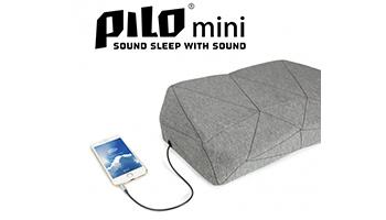 奏でる枕のミニサイズ版「PILOmini」、寝そべりながら好きな音楽を聴ける